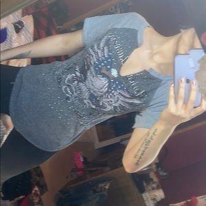 Harley Davidson bling shirt